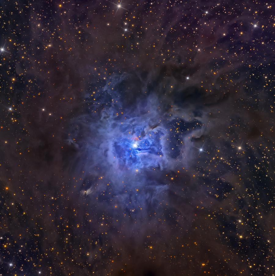 Nebulosa de Iris (NGC 7023), na constelação de Cefeu.