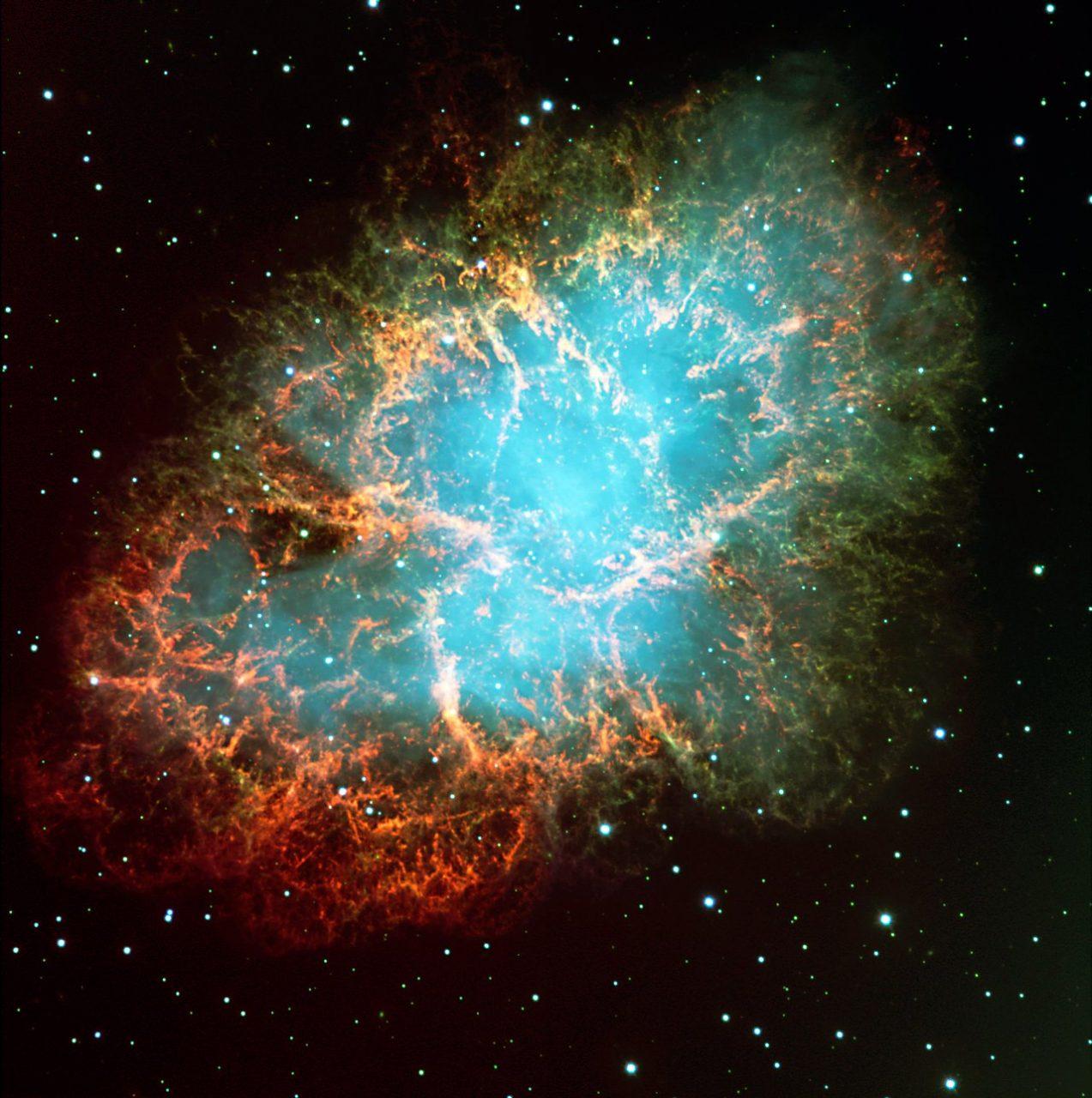 Nebulosa do Caranguejo (M1), na constelação de Touro.